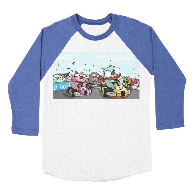 Go Race Women's Baseball Triblend Longsleeve T-Shirt by Women Who Go