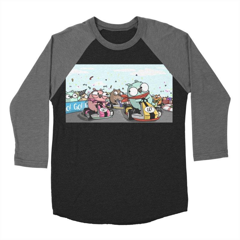 Go Race Men's Baseball Triblend T-Shirt by Women Who Go