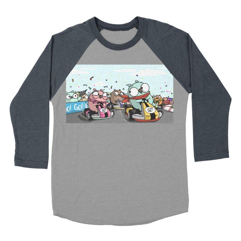 Go Race Men's Baseball Triblend Longsleeve T-Shirt by Women Who Go