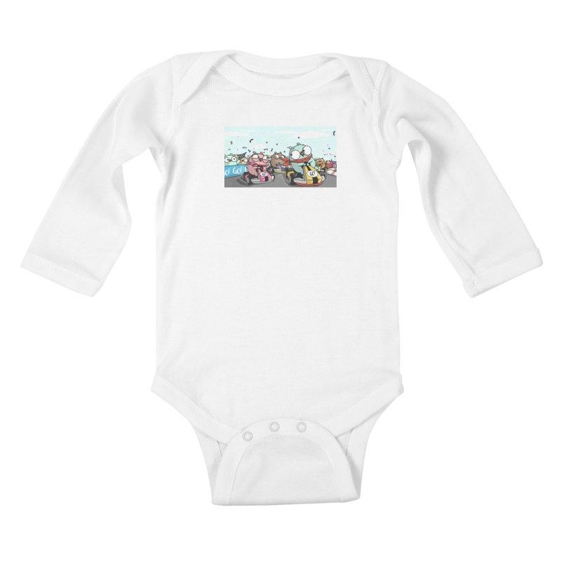 Go Race Kids Baby Longsleeve Bodysuit by Women Who Go