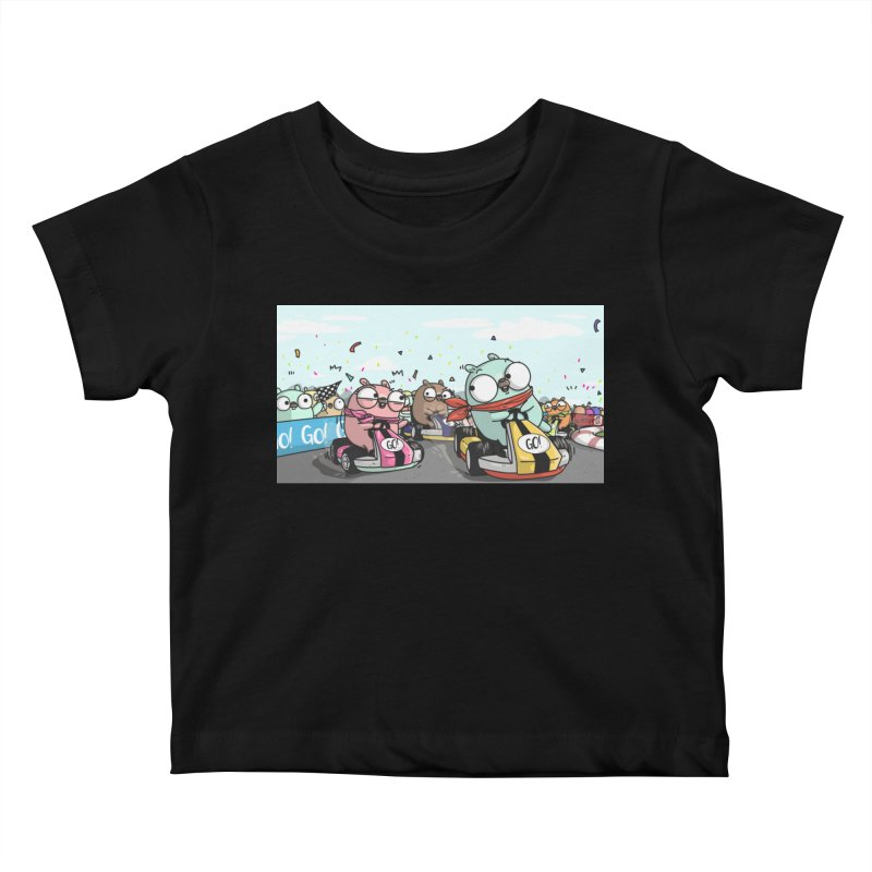 Go Race Kids Baby T-Shirt by Women Who Go