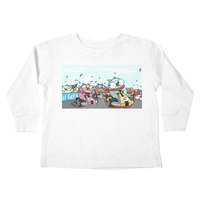 Go Race Kids Toddler Longsleeve T-Shirt by Women Who Go