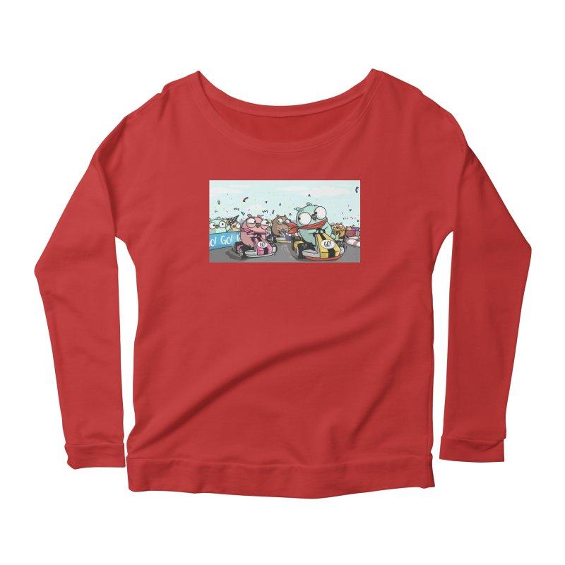 Go Race Women's Scoop Neck Longsleeve T-Shirt by Women Who Go