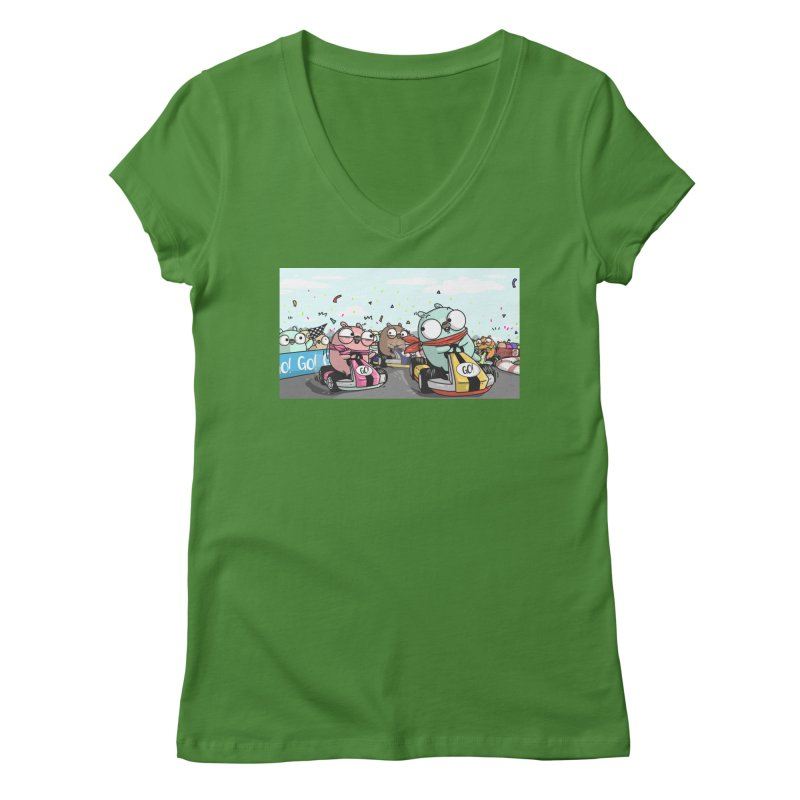 Go Race Women's V-Neck by Women Who Go
