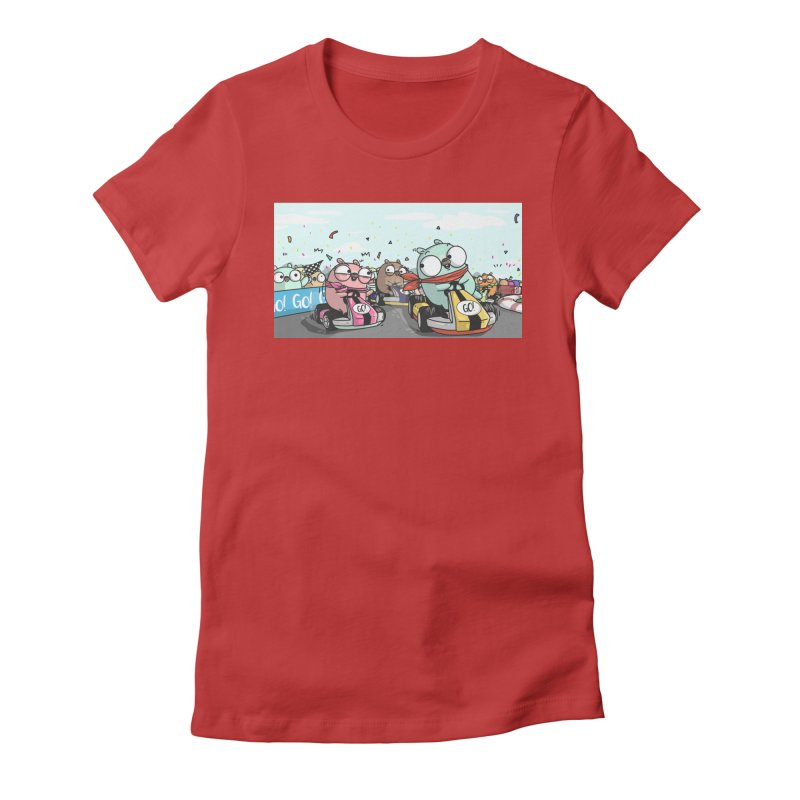 Go Race Women's Fitted T-Shirt by Women Who Go