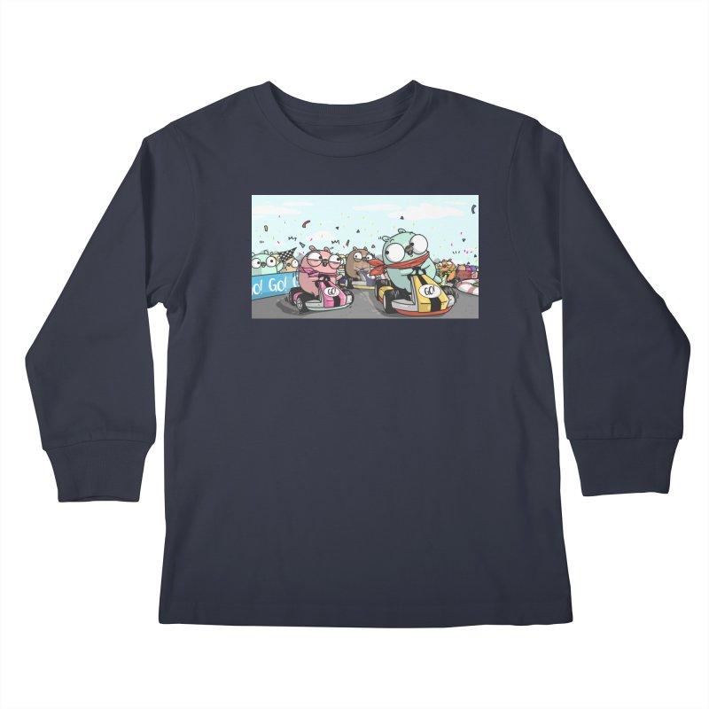Go Race Kids Longsleeve T-Shirt by Women Who Go