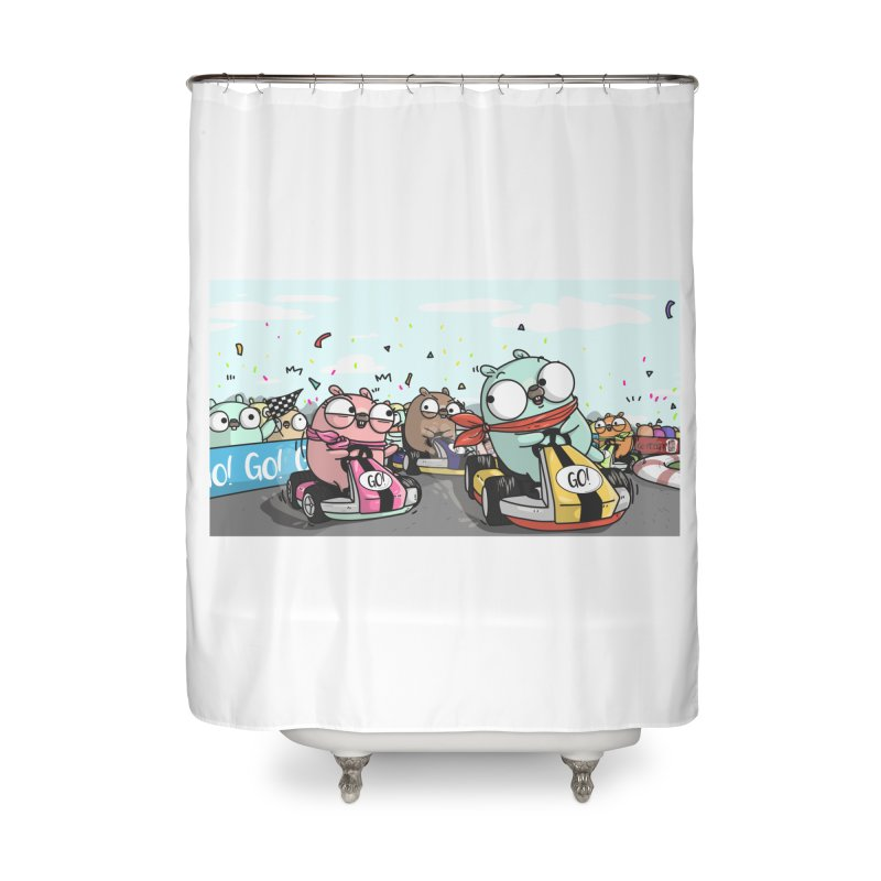 Go Race Home Shower Curtain by Women Who Go
