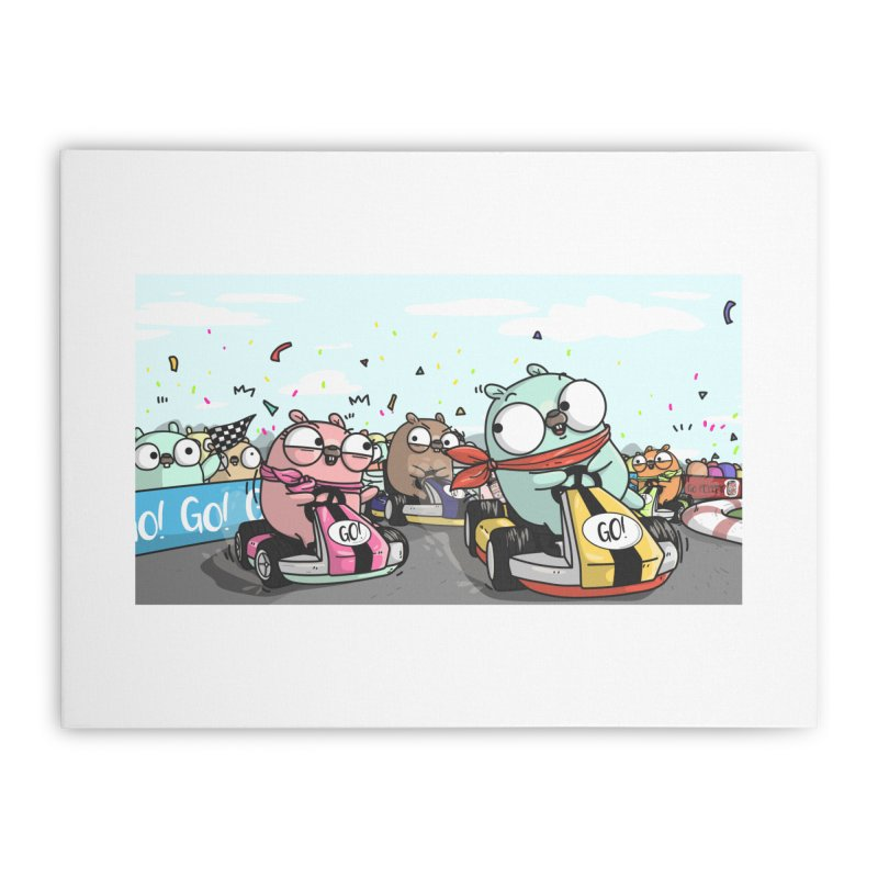 Go Race Home Stretched Canvas by Women Who Go