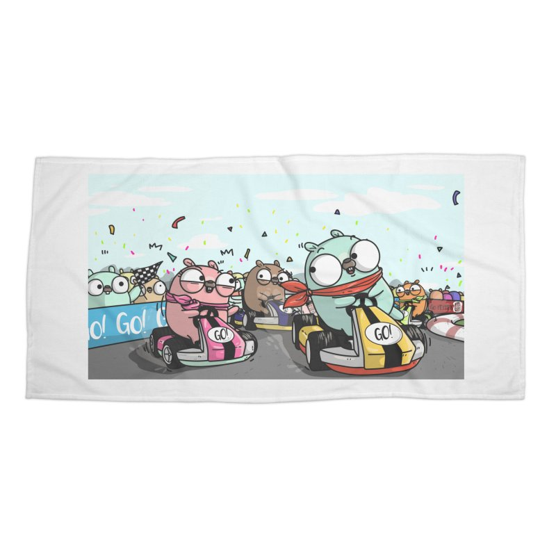 Go Race Accessories Beach Towel by Women Who Go
