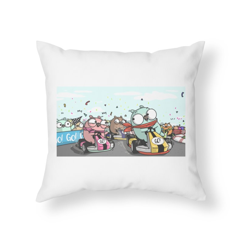 Go Race Home Throw Pillow by Women Who Go