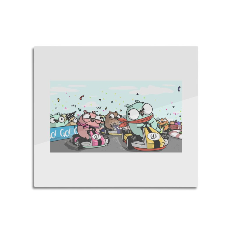 Go Race Home Mounted Aluminum Print by Women Who Go