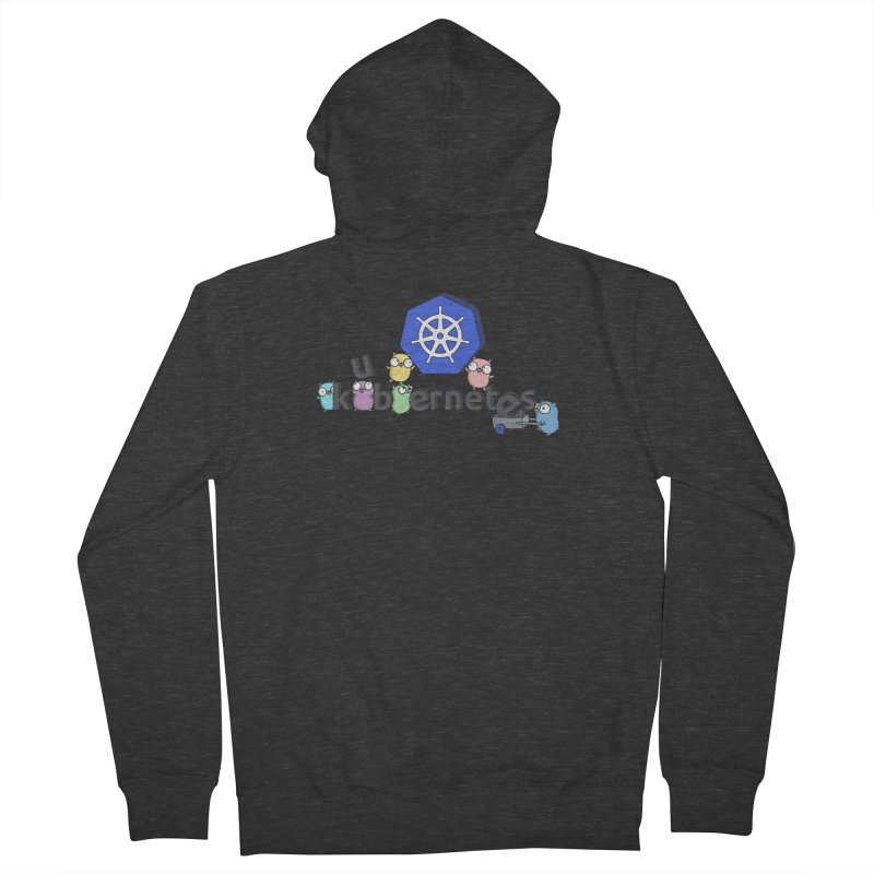 Kubernetes Gophers Women's French Terry Zip-Up Hoody by Women Who Go