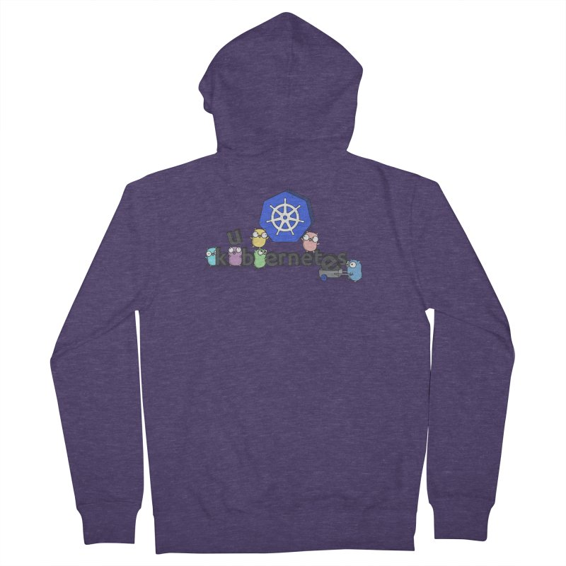 Kubernetes Gophers Men's Zip-Up Hoody by Women Who Go