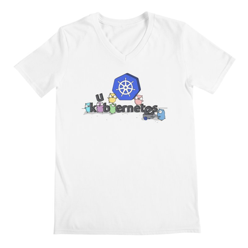 Kubernetes Gophers Men's V-Neck by Women Who Go