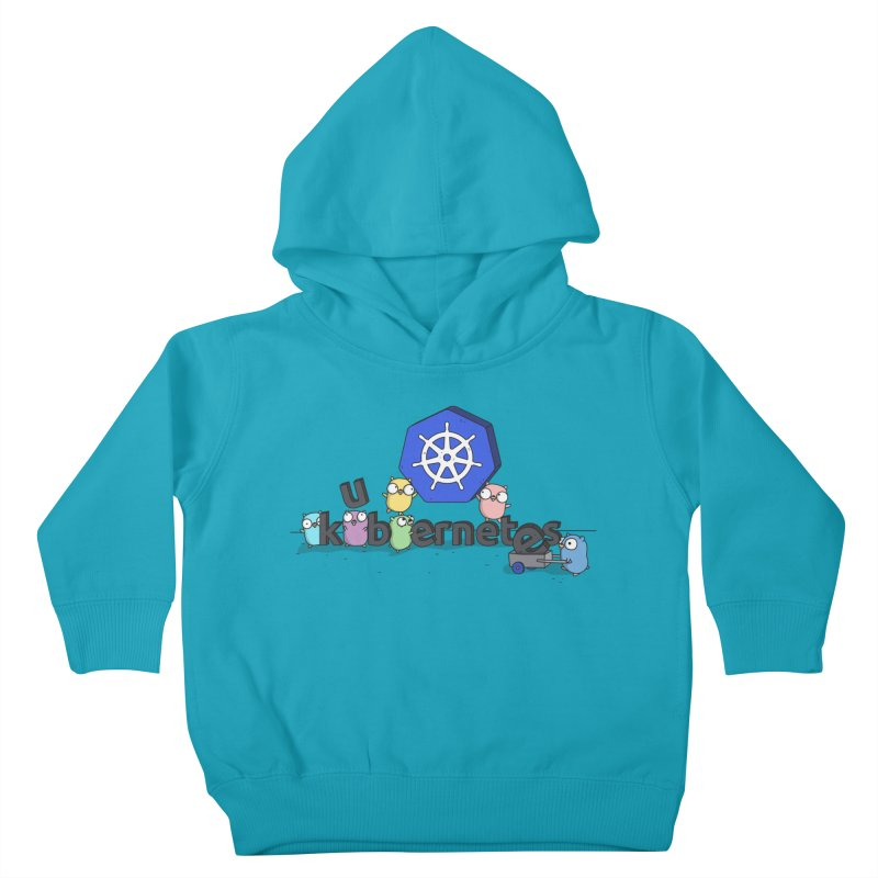 Kubernetes Gophers Kids Toddler Pullover Hoody by Women Who Go