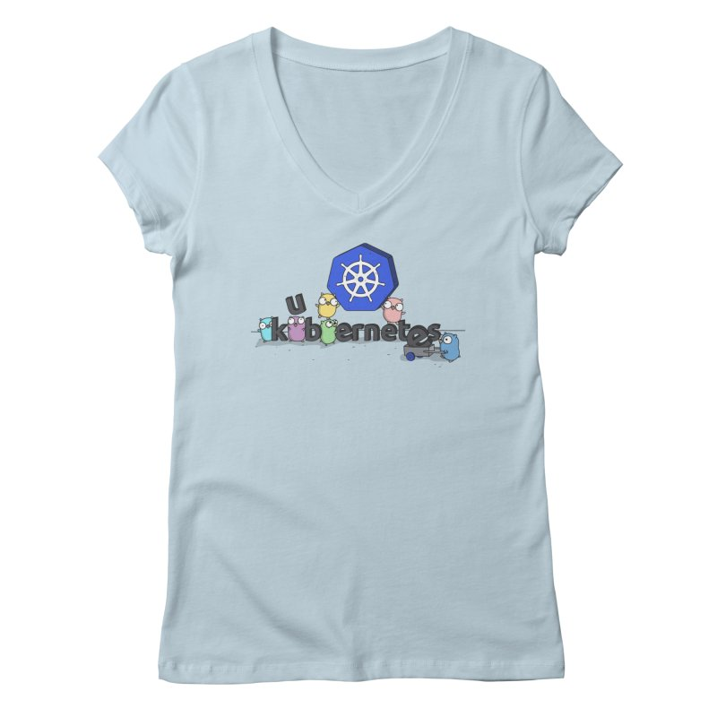 Kubernetes Gophers Women's V-Neck by Women Who Go