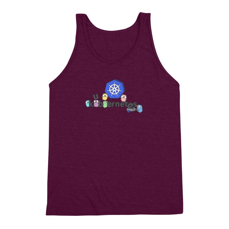 Kubernetes Gophers Men's Triblend Tank by Women Who Go