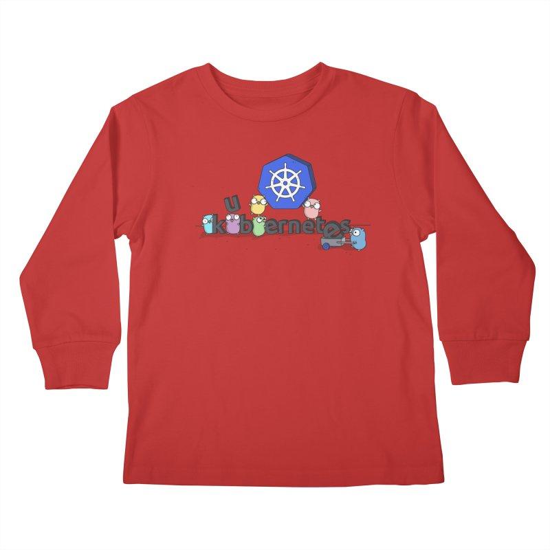 Kubernetes Gophers Kids Longsleeve T-Shirt by Women Who Go