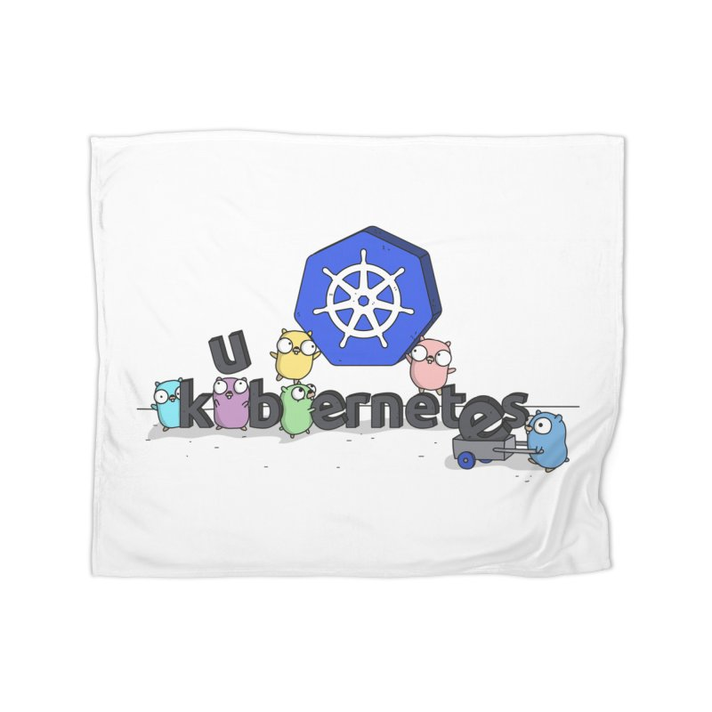 Kubernetes Gophers Home Fleece Blanket Blanket by Women Who Go