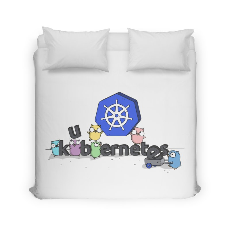 Kubernetes Gophers Home Duvet by Women Who Go