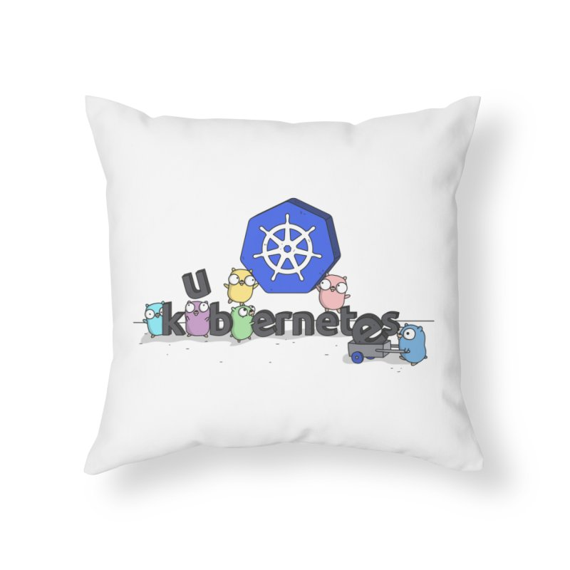 Kubernetes Gophers Home Throw Pillow by Women Who Go