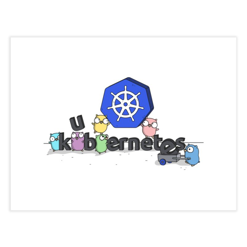 Kubernetes Gophers Home Fine Art Print by Women Who Go