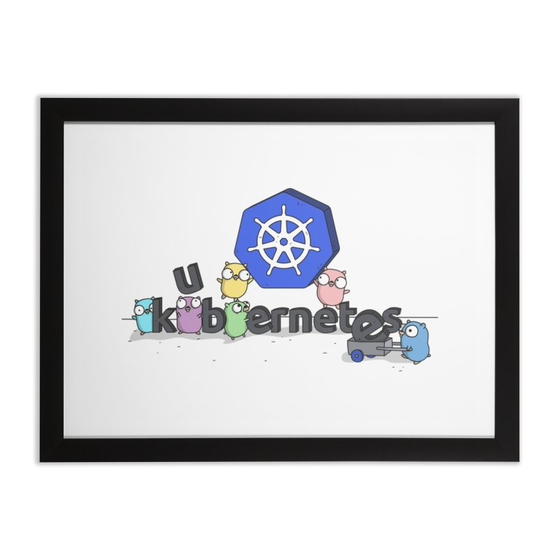 Kubernetes Gophers Home Framed Fine Art Print by Women Who Go