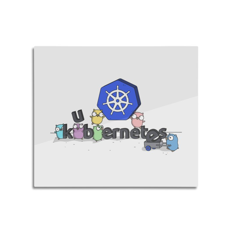 Kubernetes Gophers Home Mounted Aluminum Print by Women Who Go