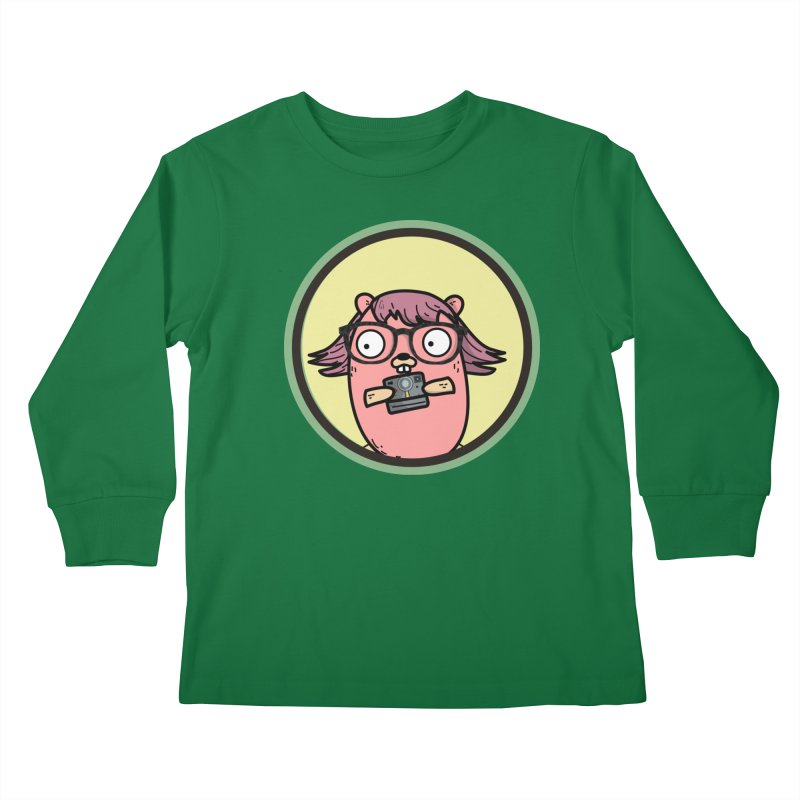 Vintage Gopher Kids Longsleeve T-Shirt by Women Who Go