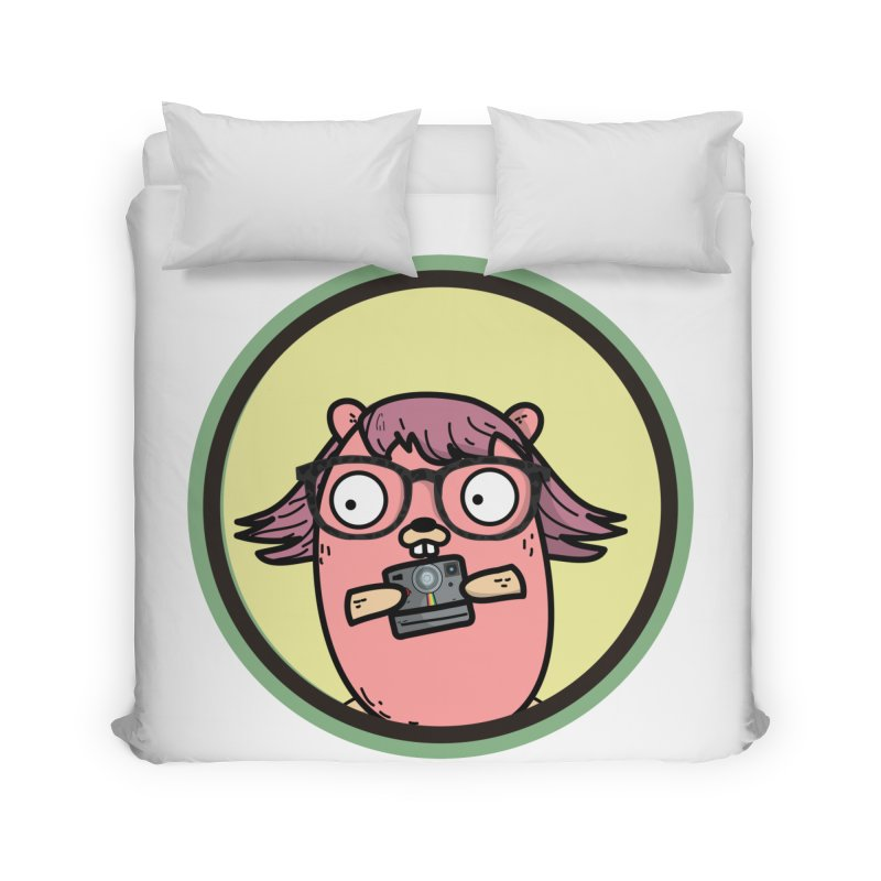 Vintage Gopher Home Duvet by Women Who Go