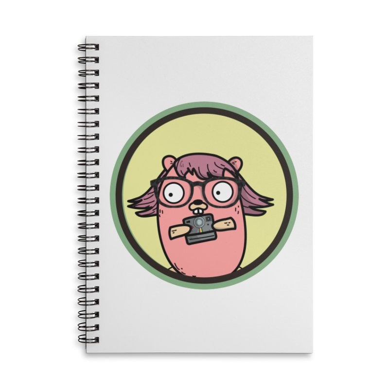 Vintage Gopher Accessories Lined Spiral Notebook by Women Who Go