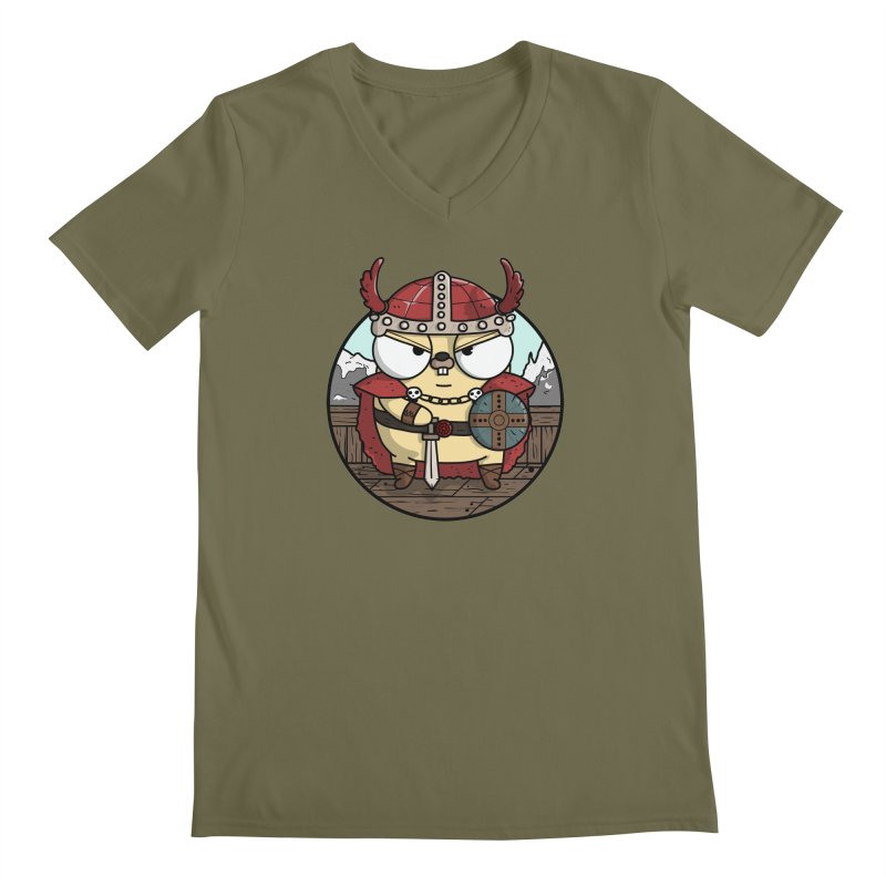 Viking Gopher Men's Regular V-Neck by Women Who Go