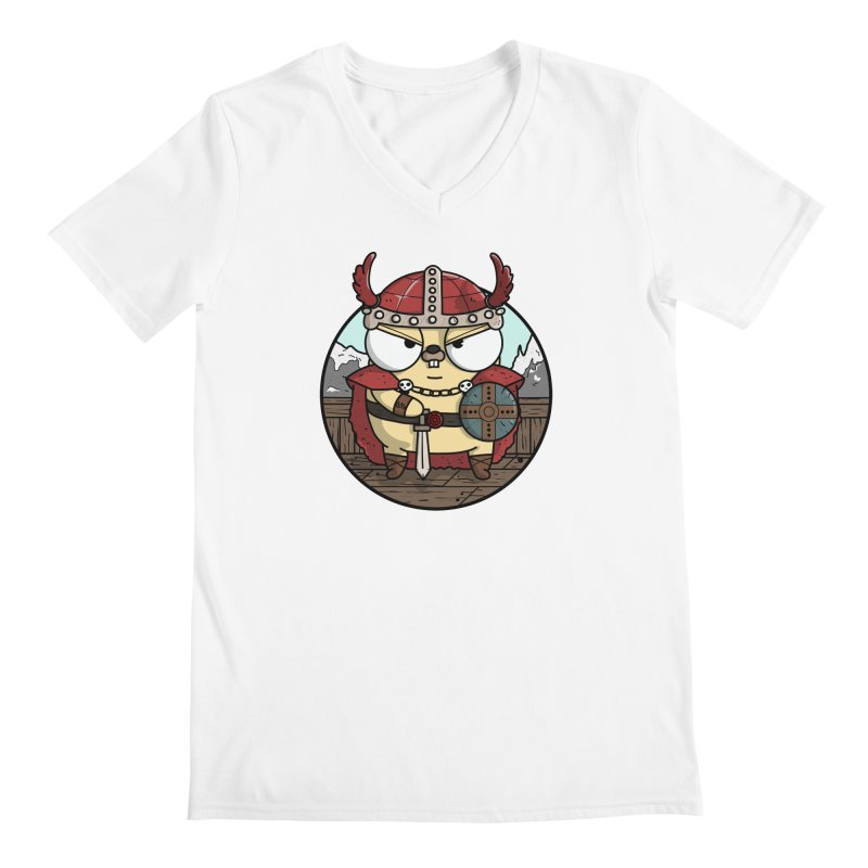 Viking Gopher Men's V-Neck by Women Who Go