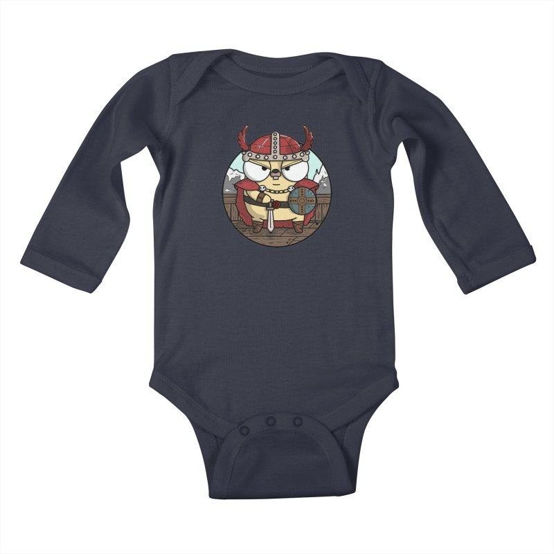 Viking Gopher Kids Baby Longsleeve Bodysuit by Women Who Go