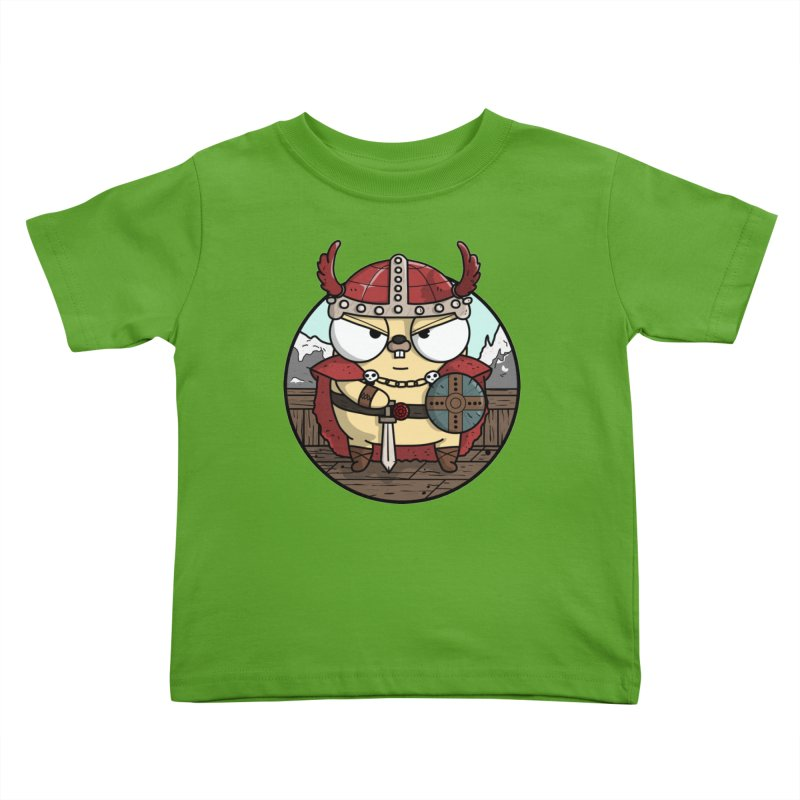 Viking Gopher Kids Toddler T-Shirt by Women Who Go