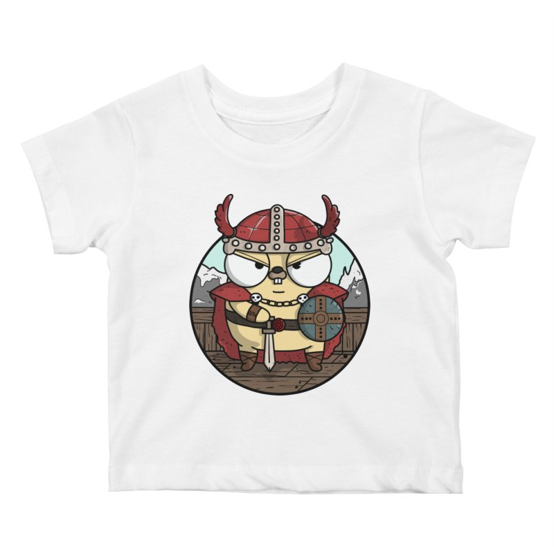 Viking Gopher Kids Baby T-Shirt by Women Who Go