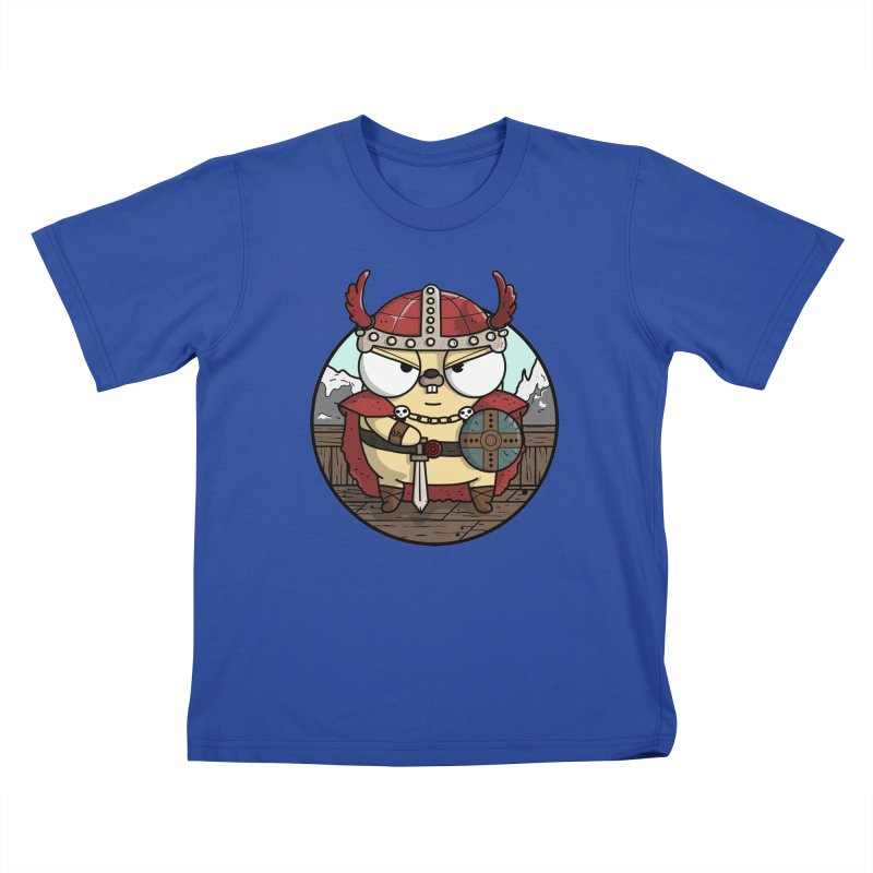 Viking Gopher Kids T-Shirt by Women Who Go