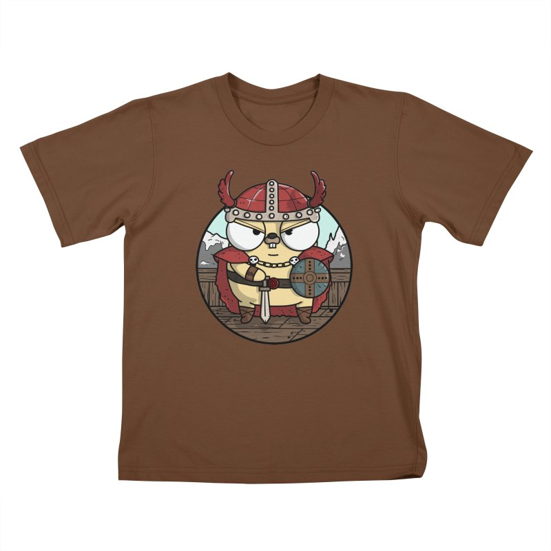 Viking Gopher Kids T-Shirt by Women Who Go