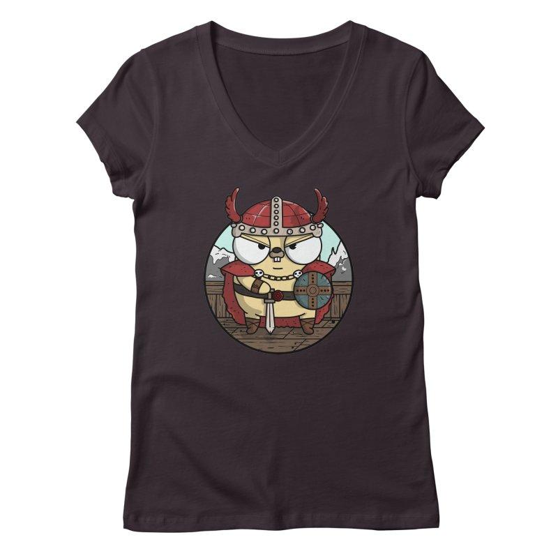 Viking Gopher Women's Regular V-Neck by Women Who Go