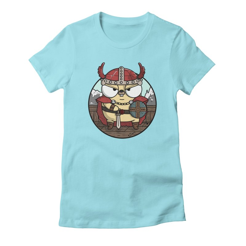 Viking Gopher Women's Fitted T-Shirt by Women Who Go