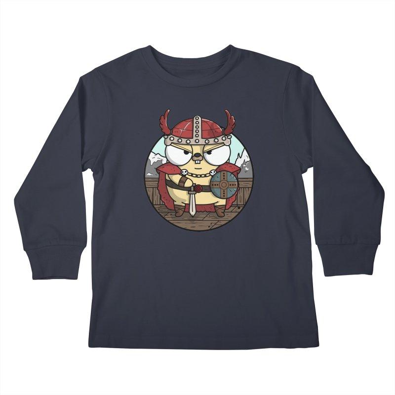 Viking Gopher Kids Longsleeve T-Shirt by Women Who Go