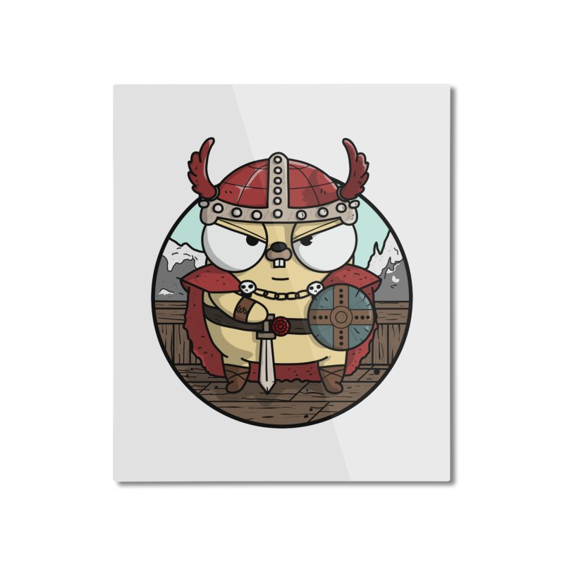 Viking Gopher Home Mounted Aluminum Print by Women Who Go