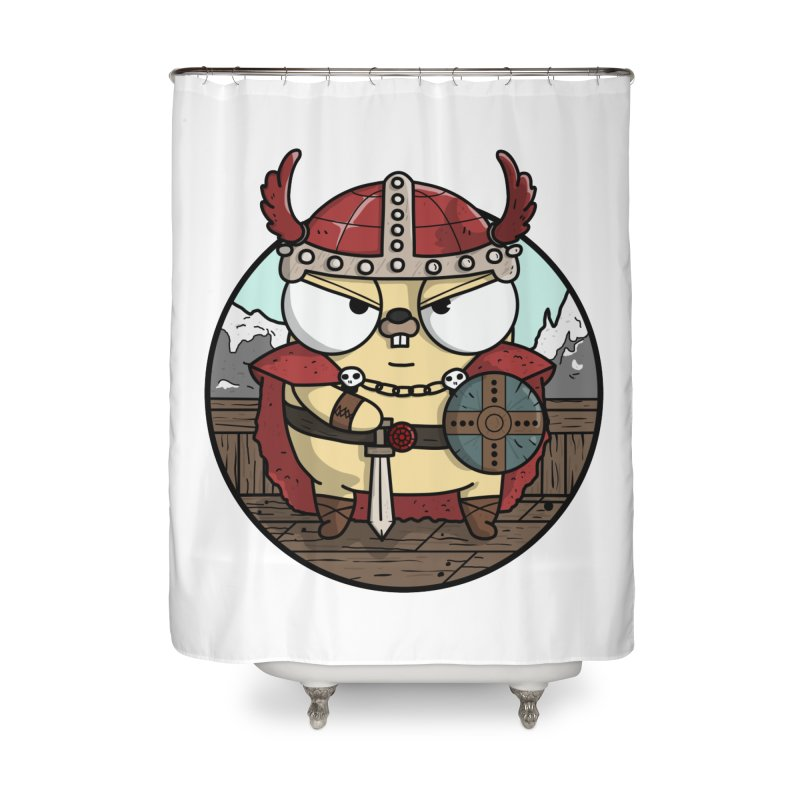 Viking Gopher Home Shower Curtain by Women Who Go