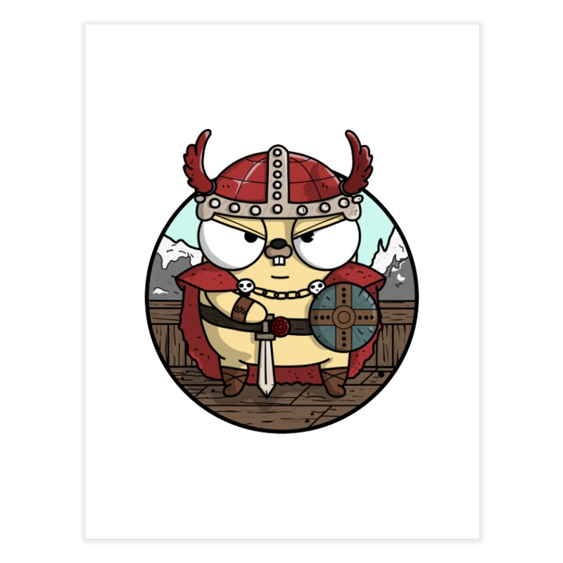 Viking Gopher Home Fine Art Print by Women Who Go