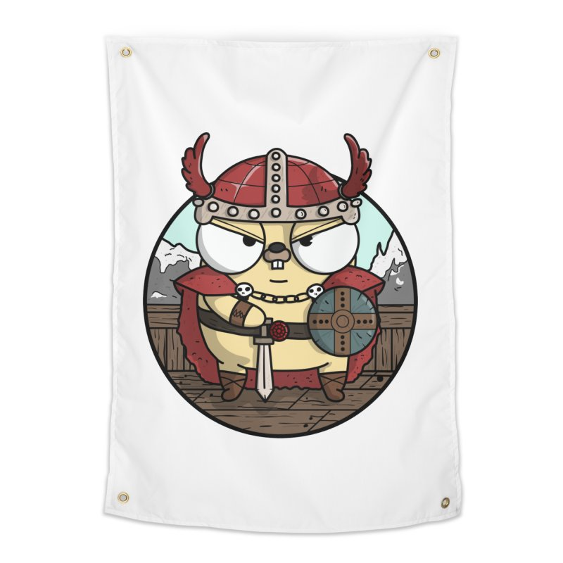 Viking Gopher Home Tapestry by Women Who Go