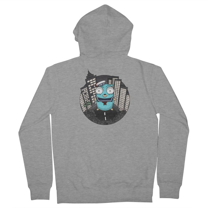 StayPuft Gopher Men's French Terry Zip-Up Hoody by Women Who Go