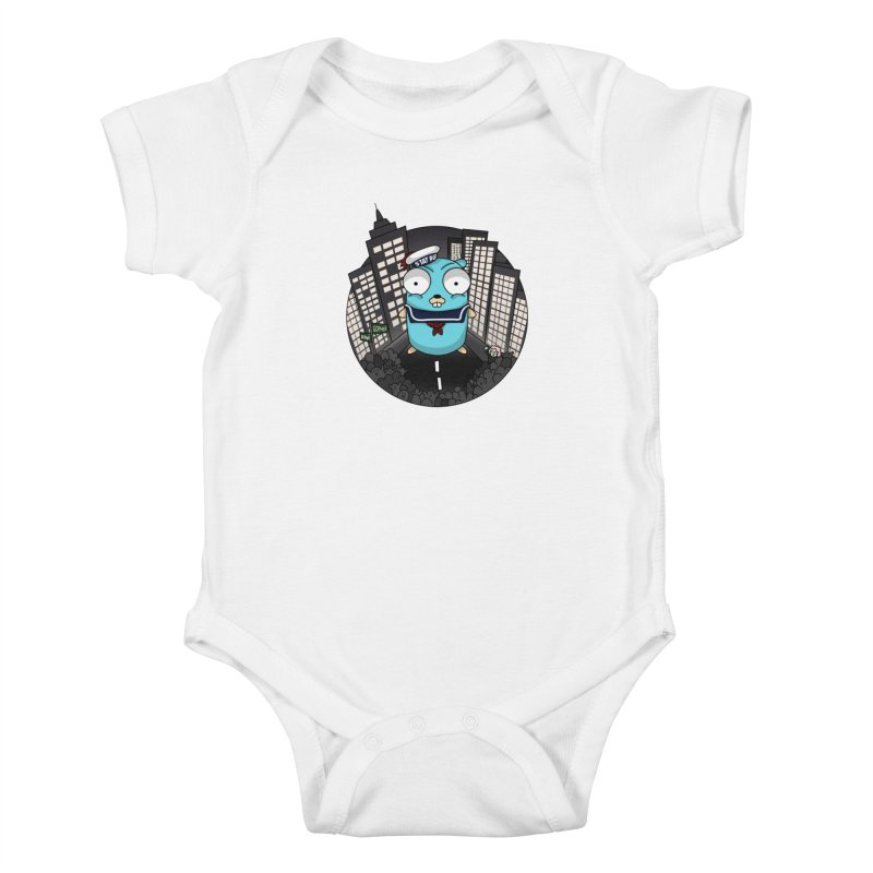 StayPuft Gopher Kids Baby Bodysuit by Women Who Go