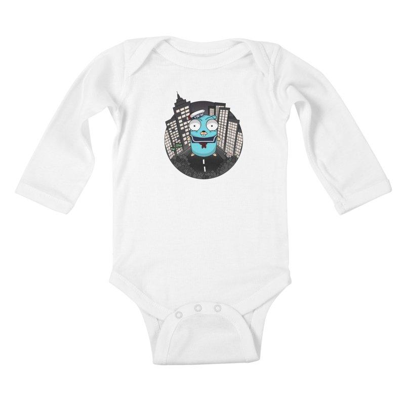 StayPuft Gopher Kids Baby Longsleeve Bodysuit by Women Who Go