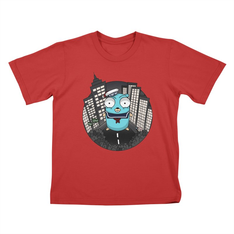 StayPuft Gopher Kids T-Shirt by Women Who Go