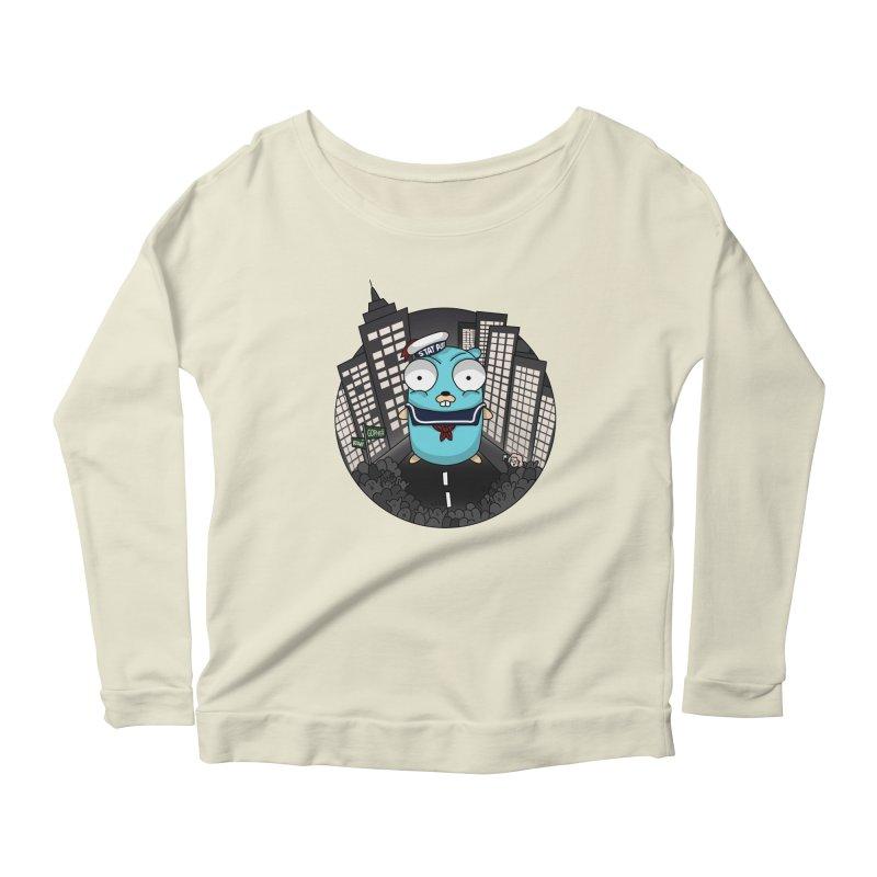 StayPuft Gopher Women's Scoop Neck Longsleeve T-Shirt by Women Who Go